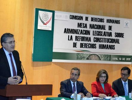 Instalan mesa de armonización legislativa sobre reforma constitucional de DDHH