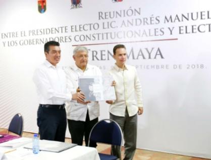 Acuerdan gobernadores trabajar en conjunto en megaproyecto de Tren Maya