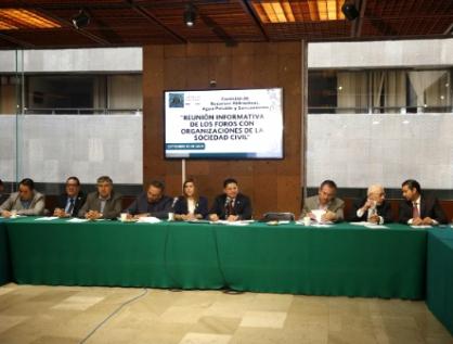 Comisión da a conocer avances en propuestas de foros regionales para la ley del Agua