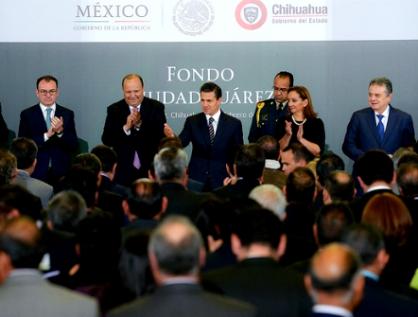 Anuncia Peña el Fondo Ciudad Juárez