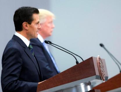 """Visita de Trump a Peña, """"error histórico y político"""""""