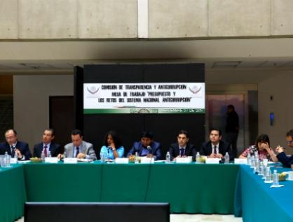 Comisión se reúne con representantes del Comité Coordinador del SNA para analizar presupuesto 2018