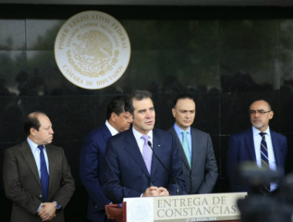 Recibe Cámara de Diputados primera documentación para constituir la LXIV Legislatura