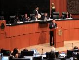 Gendarmería, migrantes y seguridad, temas de senadores al secretario de Gobernación