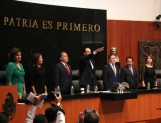 Protesta Roberto Gil como presidente del Senado