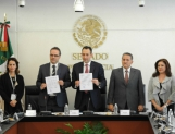 Firman convenio Senado e IMCO