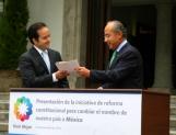 Nuevamente, propone FCH que el país sea llamado sólo México