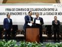 Firma Senado convenio de colaboración para la instalación de la Asamblea Constituyente